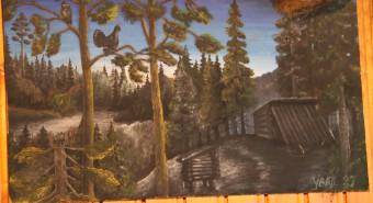 Komi jahimehed on suured kunstisõbrad. Jahionni pilt jahionni seinal. Foto: Art Leete 2009